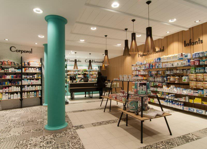 Diseño y reforma de farmacias modernas en Baleares. Interiorismo de farmacias