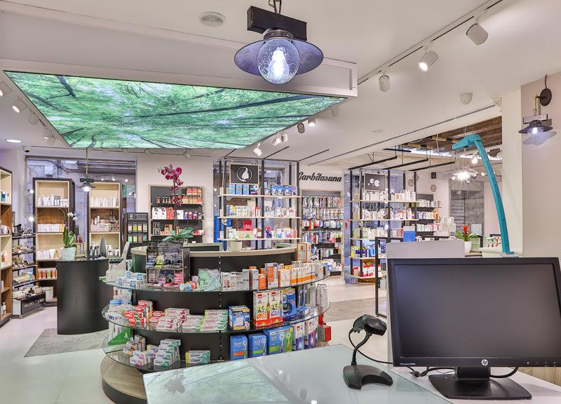 Diseño y reforma de farmacias modernas en Guipúzcoa. Farmacia moderna.